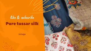 pure tussar silk suits @wholesale