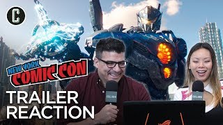 Pacific rim: uprising trailer reaction & review - nycc 2017