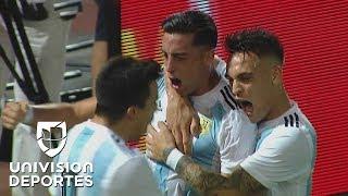 Ramiro Funes Mori pone el 1-0 de Argentina