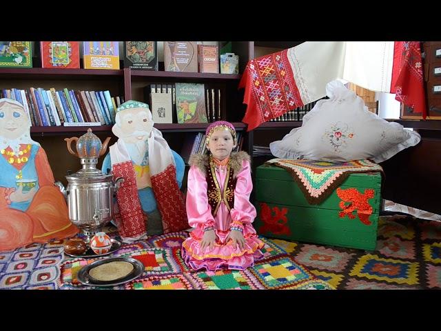 Изображение предпросмотра прочтения – ДилараМингалиева читает произведение «Происхождение башкирского народа» (Русский фольклор )