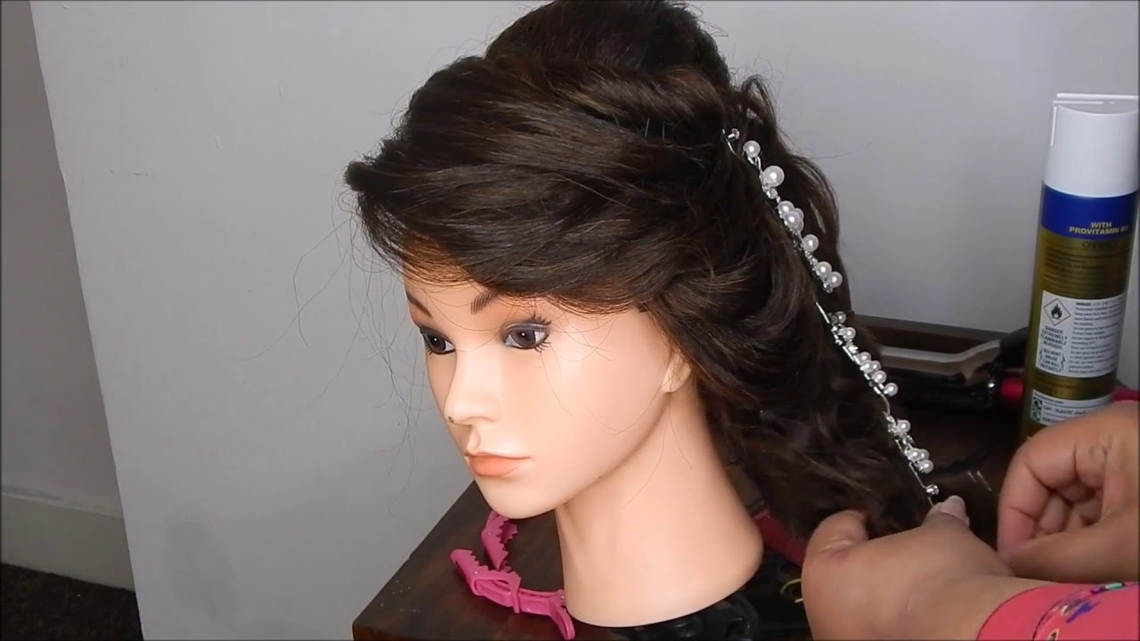 Hairstyles For Mehndi Party : Mehndi bridal side braid paistani indian hairstyle by