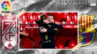 Granada 0  4 Barcelona  HIGHLIGHTS & GOALS  1/9/2021