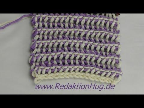 Tunesisch Häkeln - Schal mit verrücktem Muster aus hatnut XL 55 von ...