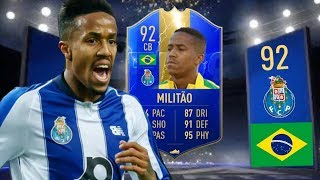 FIFA 19 TOTS 92 EDER MILITAO PLAYER REVIEW ! Best Defender On FUT 19 ?!