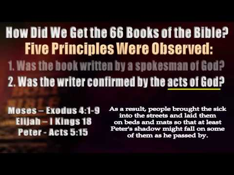 How did we get the books of the Bible? I'm Glad You Asked!