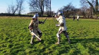 Medieval Combat Society Jan : dual swords, big and small