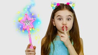 Polina Pretend Play with Magic Wand - 동요와 아이 노래 | 어린이 교육 | Nick and Poli