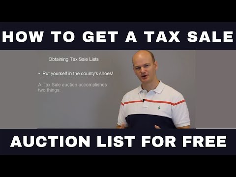 How to Get a Tax Sale or Tax Deed Auction List For FREE!