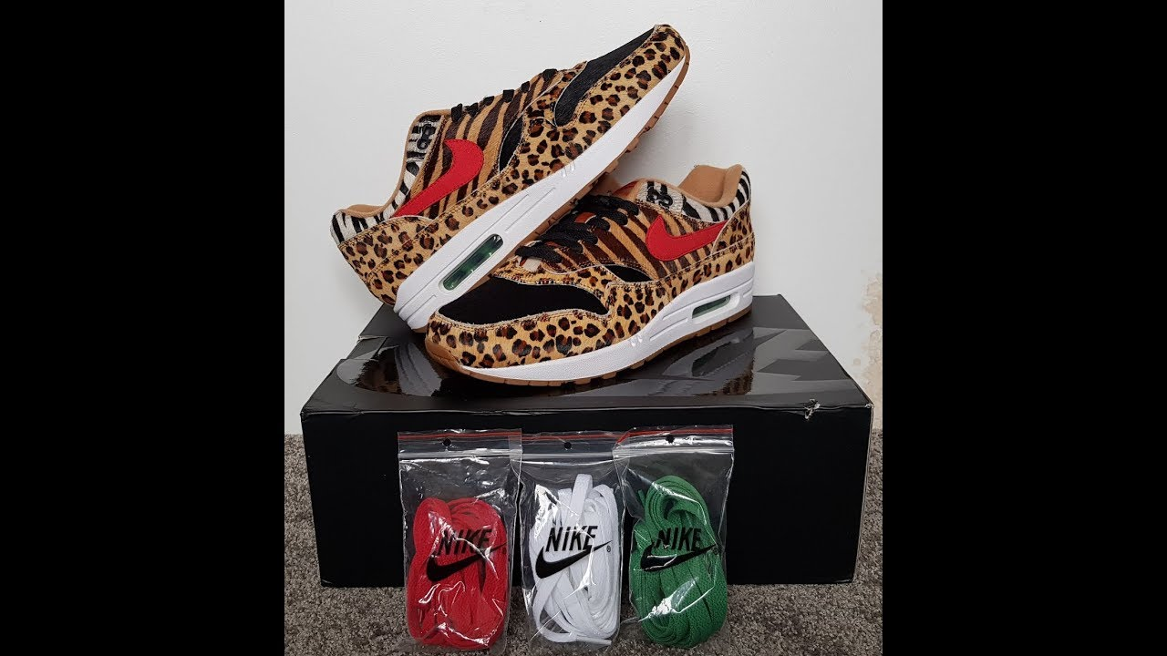 fe173f257ee unboxing unpacking NIKE Air Max 1 DLX Atmos Animal 2 0 code AQ0928 700
