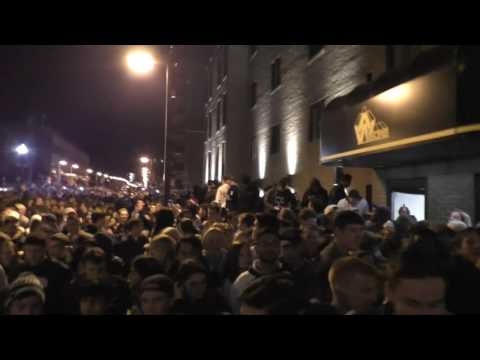 Penn State students flee tear gas during riot following Big Ten Championship win