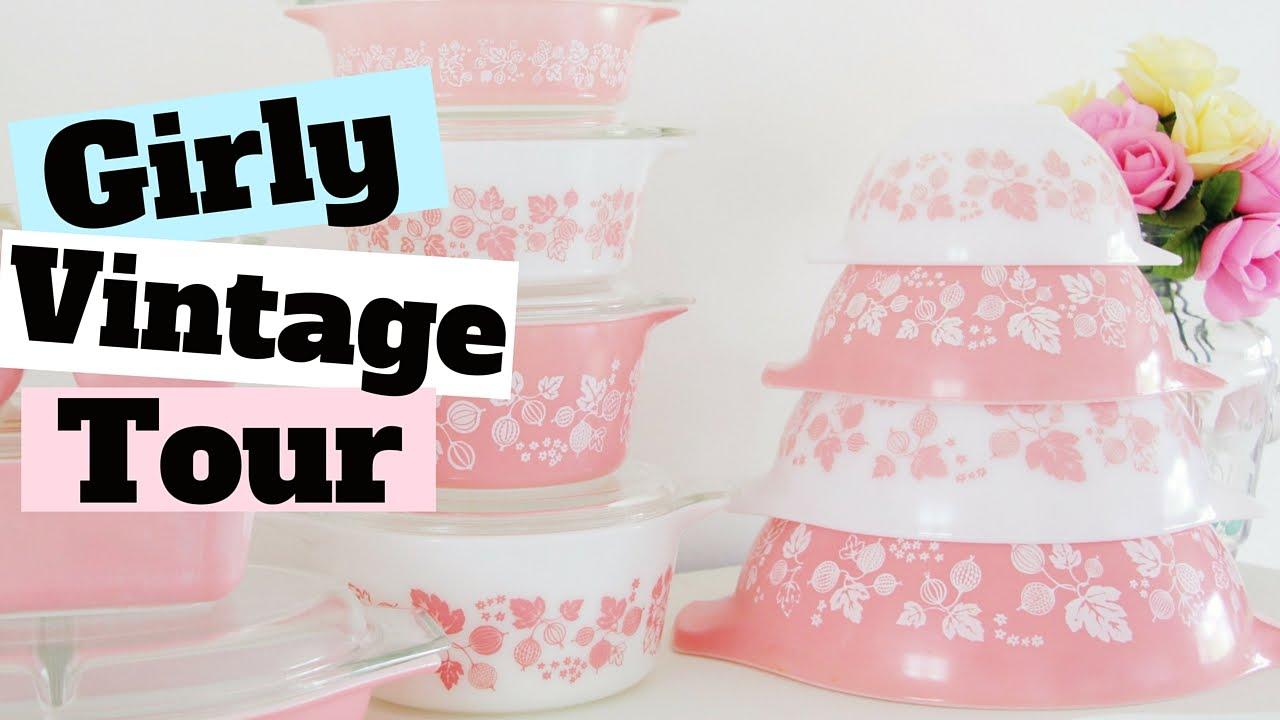 My Girly Vintage Kitchen TOUR 2016 | Where To Buy Girly Kitchen ...