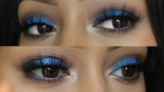 Blue eyeshadow look | JaydePierce