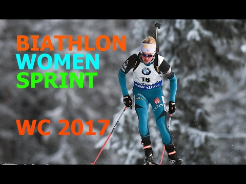 BIATHLON WOMEN SPRINT 10.02.2017 World Championships Hochfil