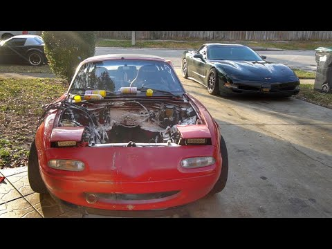 Budget LS Miata Pt.8 Engine Bay Prep and Wiring