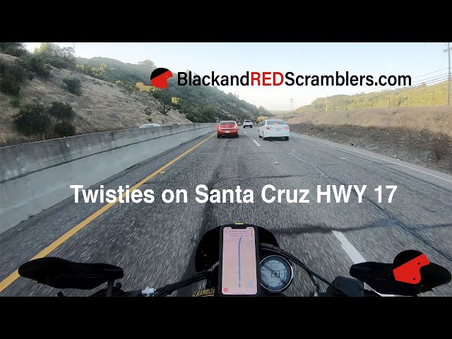 Enjoying the twisties on Santa Cruz Hwy 17 on a Ducati Scrambler / Quail