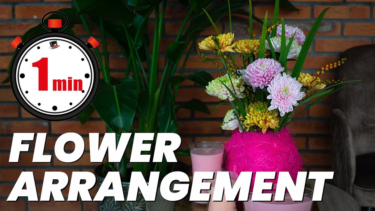 Chrysanthemum Rossano Table Arrangement In One Minute | Flower Circus, 13+