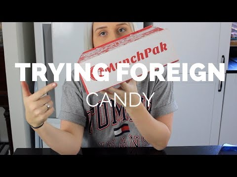 Trying International Candy W/ Munchpak