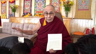 "2019 08 19 His Holiness reassures Tibetans of his ""excellent health"""