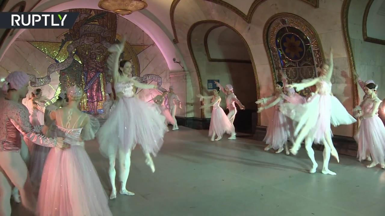 Subway Stage: Kremlin ballet dancers perform in Moscow metro