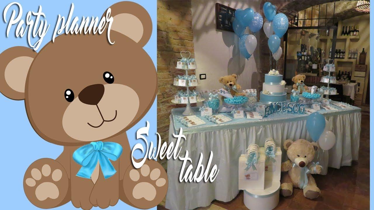 Idee allestimento battesimo tema orsetto baby shower teddy