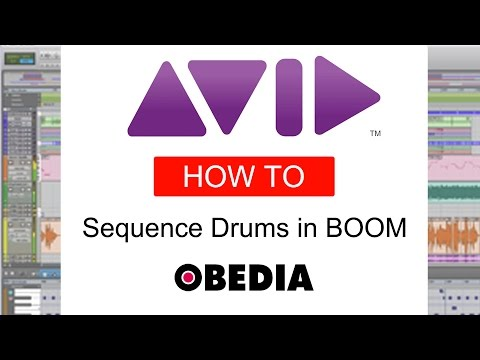 PRO TOOLS  - How to sequence drums using Boom