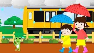 あめふり【童謡】電車・踏切Kidsアニメ