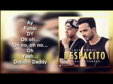 Luis Fonsi ft Daddy Yankee - Despacito (lyrics)