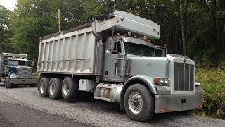 Shifting The 18 Speed Peterbilt Tri-Axle Truck - 1/1/14