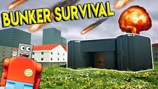 LEGO BUNKER SURVIVAL VS ASTEROID ALIEN INVASION! - Brick Rigs Gameplay Challenge - Lego City Toy