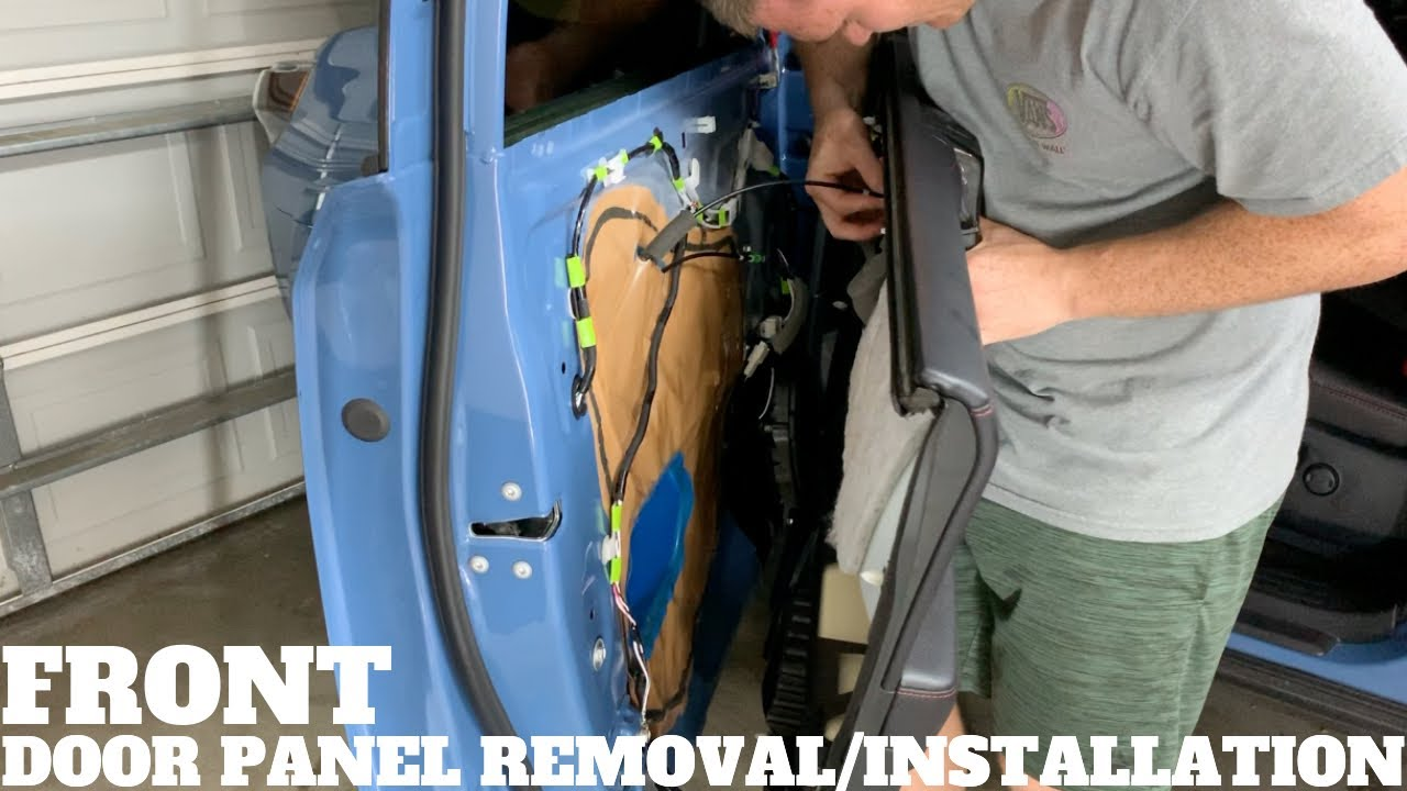 Toyota 4runner Front Door Panel Removal Installation How To Youtube