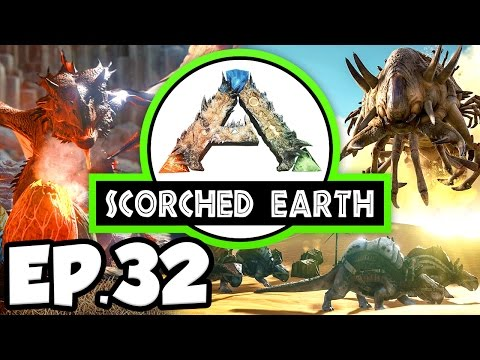 ARK: Scorched Earth Ep.32  TRAPPED IN A HEAT WAVE, GREENHOUSE WALLS!!! Modded Dinosaurs Gameplay