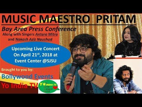 Pritam, Antara Mitra & Nakash Aziz USA tour/Show Press Conference