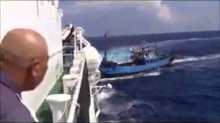 Chinese fishing boat collide with Japanese coatal guard boat around disputed sea (Diaoyu Islet)