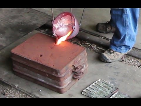Making an Aluminum Way Cover Part 1:  Casting the Part in my Backyard Foundry