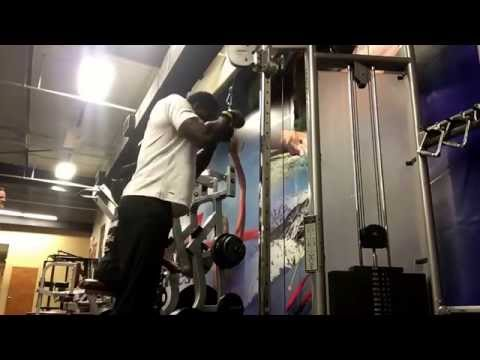 Heavy tricep press downs