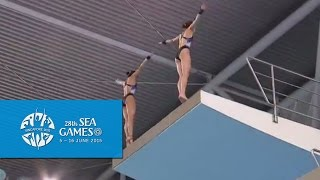 Video Aquatics Diving Synchronised Platform Finals (Women) Day 2 | 28th SEA Games Singapore 2015 download MP3, 3GP, MP4, WEBM, AVI, FLV Juli 2017