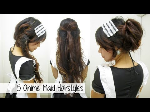5 anime maid hairstyles l quick