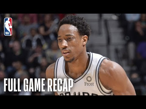 SPURSWATCH - DeMar DeRozan Leads Spurs past Hawks