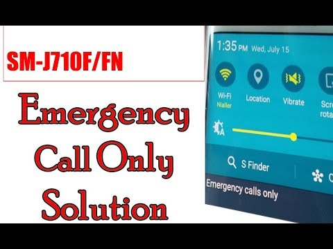 Samsung J710f/fn Emergency Call only ( Fixed )