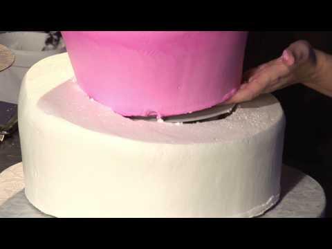 Three-Tier Whimsical Wedding Cake Design : Wedding Cake: Snap Middle Tier Into Bottom Tier