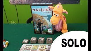 Nations: The Dice game - Solo Playthrough
