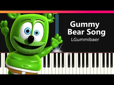 """Gummibaer - """"The Gummy Bear Song"""" Piano Tutorial - Chords - How To Play - Cover"""