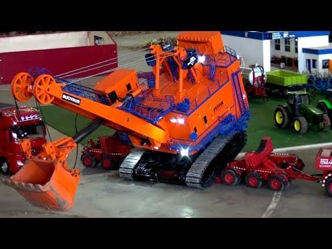 RC Heavy Duty Truck Transport Mining Shovel Bucyrus 495 HR Bagger LKW ♦ Feldtage Bocholt 2016