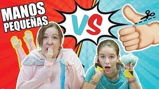 TINY HANDS 👐SLIME vs Sin PULGARES ¿Quien ganará? // Familukis