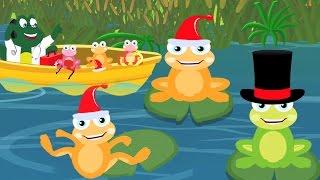 пять маленьких лягушек | детские песни | потешки для детей