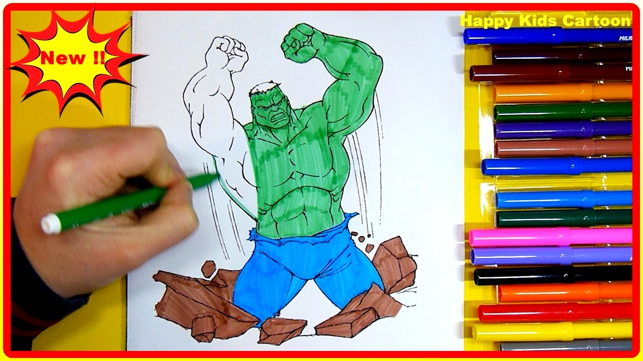 Hulk Coloring Pages For Kids Part 2 Hulk Coloring Pages Fun Learn