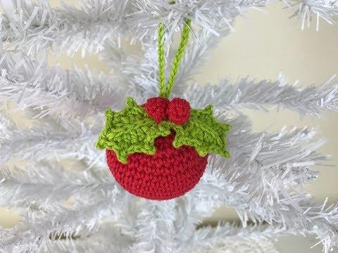 Como Fazer uma Bola de Crochê para Árvore de Natal