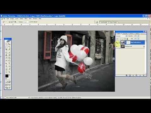 Hướng dẫn làm nổi bật 1 màu sắc trong ảnh -  photoshop