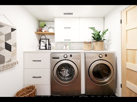 get a load of this scandi-inspired laundry room and