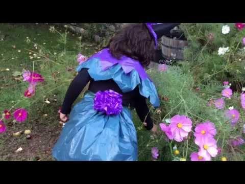 Halloween para ni os disfraz de bruja con bolsas de basura youtube - Como pintar a una nina de bruja para halloween ...
